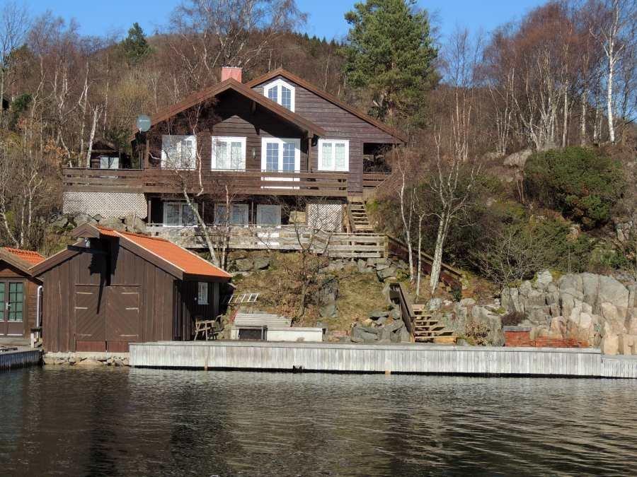 Ferienhaus Kåveland - direkte Wasserlage am Grønnsfjord