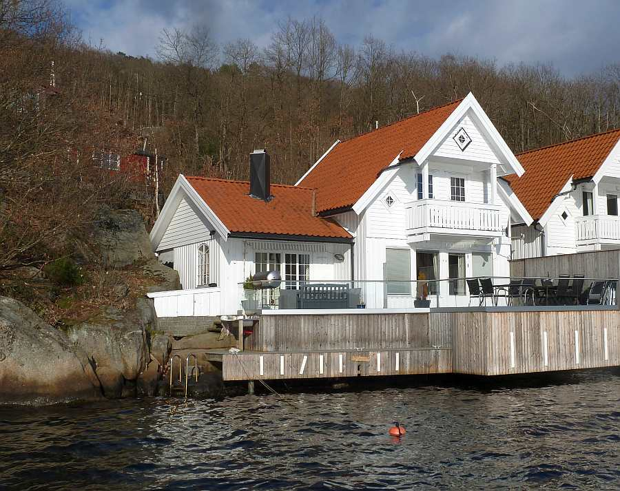 Ferienhaus Ladberget - top Lage direkt am Fjord