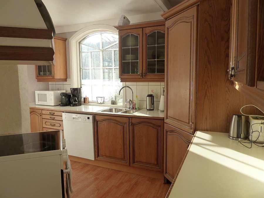 Zugang zur offenen Küche des Ferienhauses