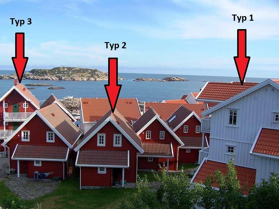 Links im Bild Typ 3 - Mitte Typ 2 - Rechts Typ 1
