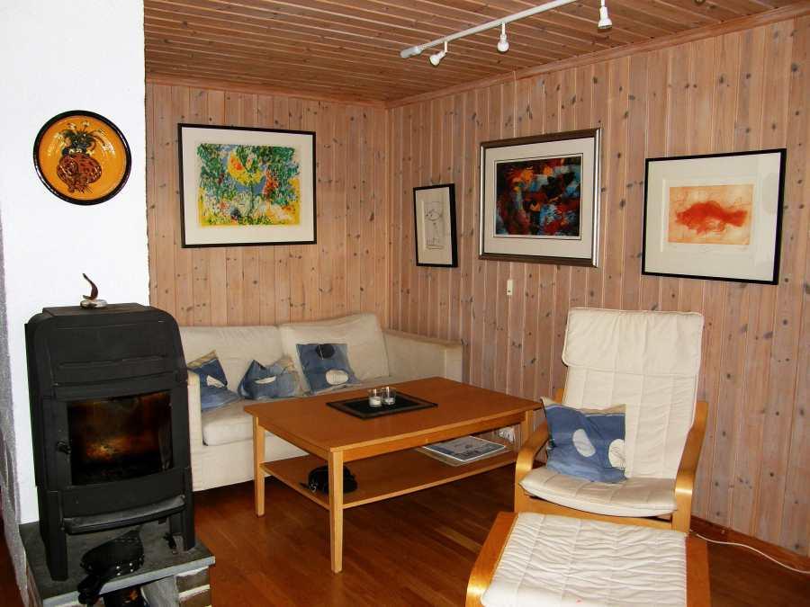 Typ 3 - Beispielbild - Heizen Sie das Wohnzimmer gerne auch mit Holz. Das Feuerholz ist in Norwegen an fast jeder Tankstelle günstig zu bekommen.