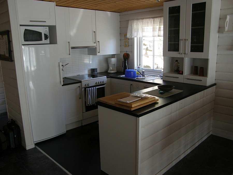 Die komplett ausgestattete Küche des Hauses