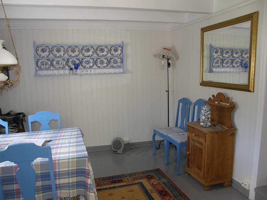 Haus Øverstranda ist sehr gemütlich eingerichtet