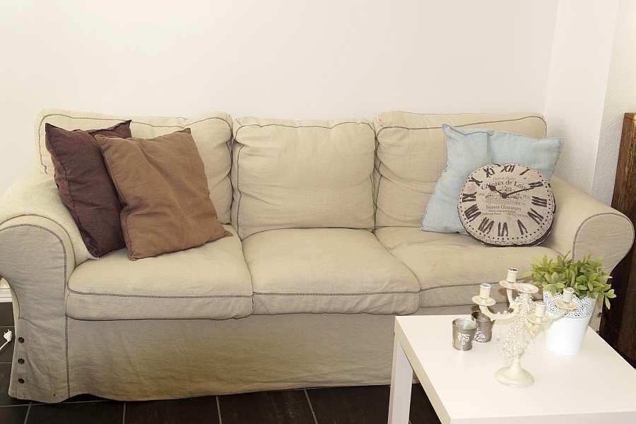 Die Sitzecke im Wohnzimmer