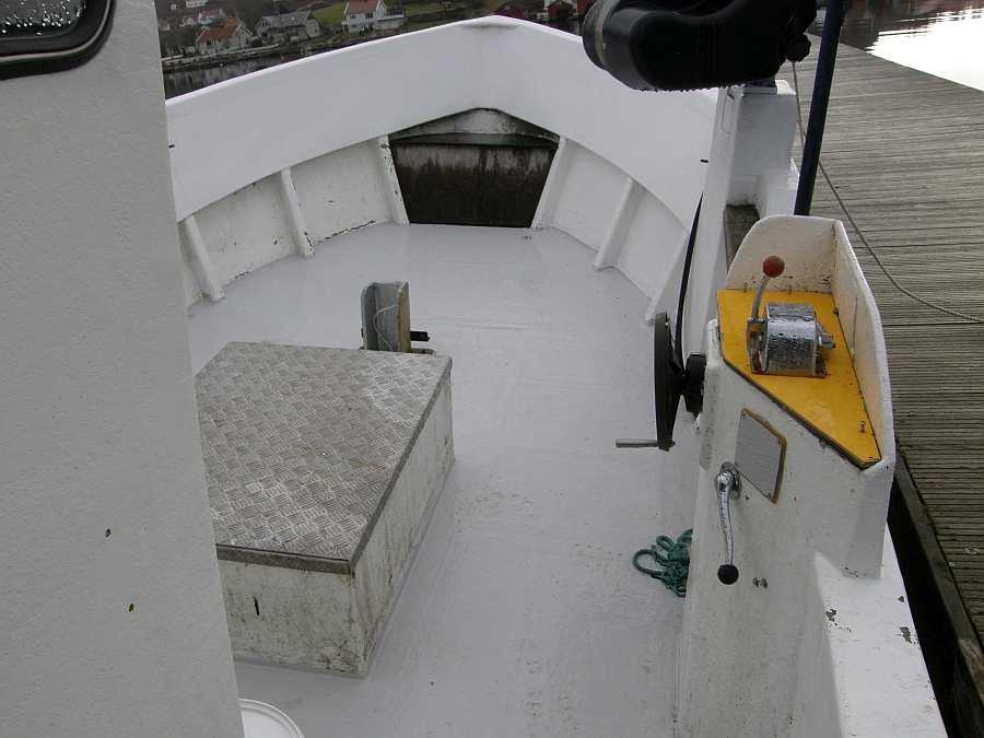 Viel Angelplatz an Deck