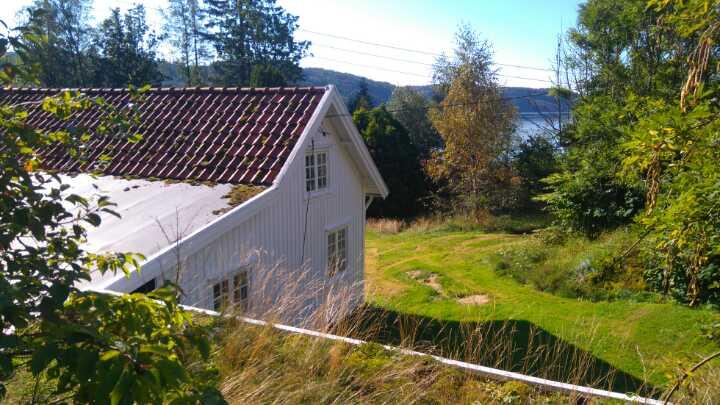 Ferienhaus Salthaug liegt auf einem riesigen eigenen Gartengrundstück mit langer Uferlinie am Rosfjord