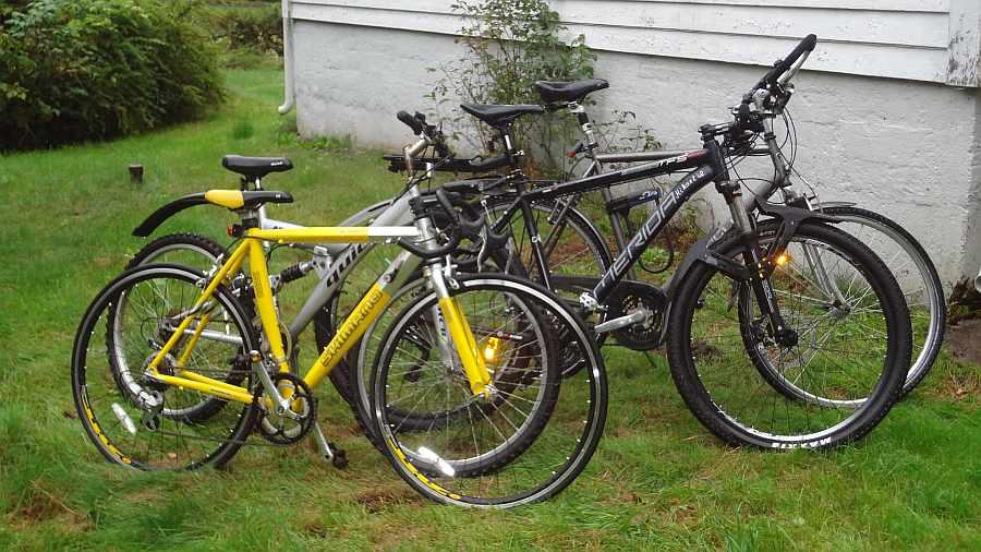 Fahhrräder können vom Gastgeber geliehen werden