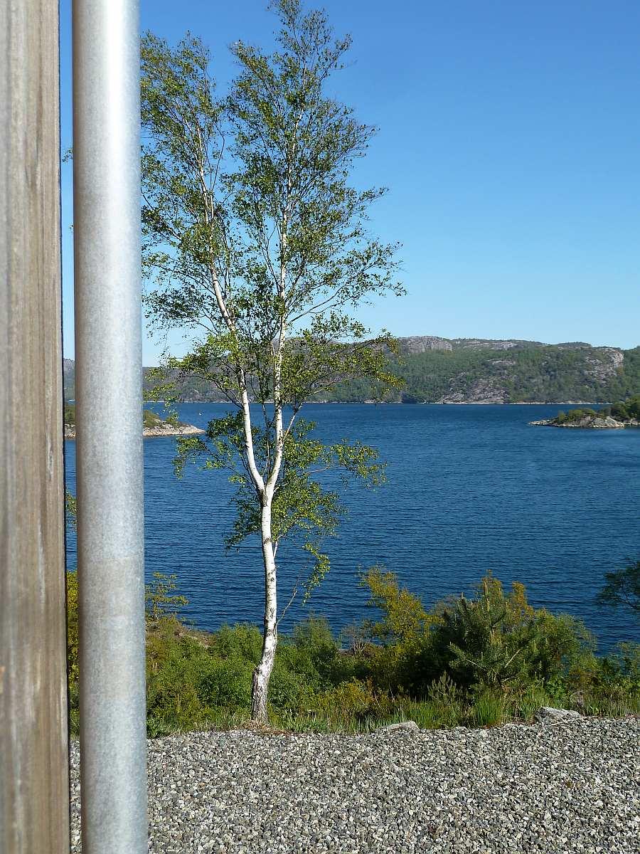 Die Lage am Fjordufer ist einfach fantastisch