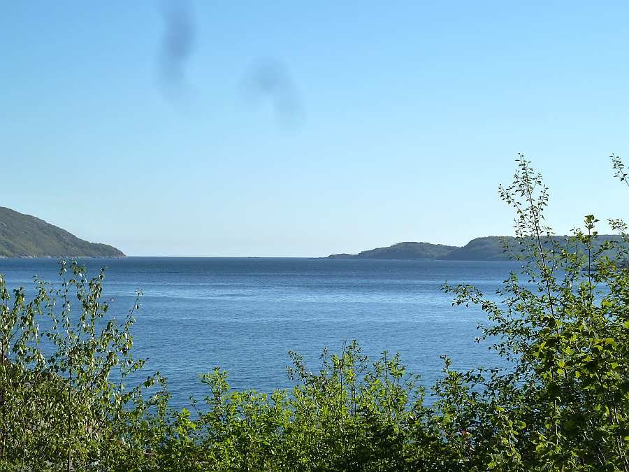 Blick auf den Grønnsfjord Richtung Süden beim Kap Lindesnes