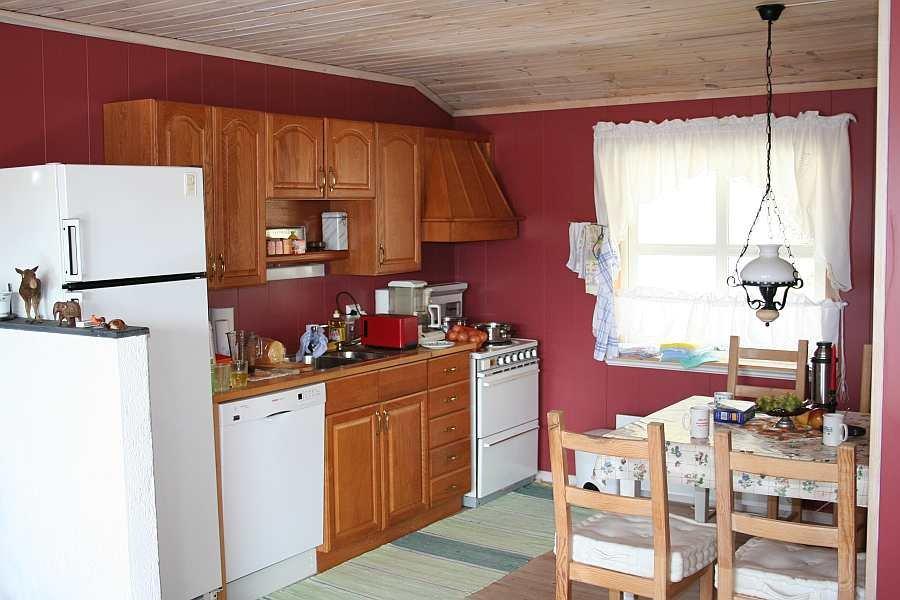 Die offene Studioküche der Ferienwohnung
