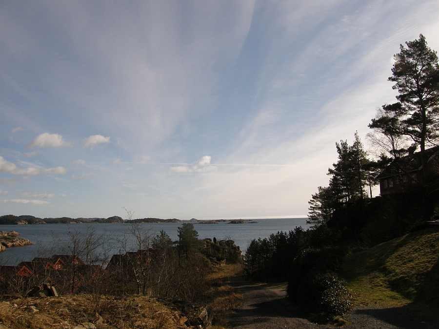 Blick auf's Meer in Höhe des Ferienhauses