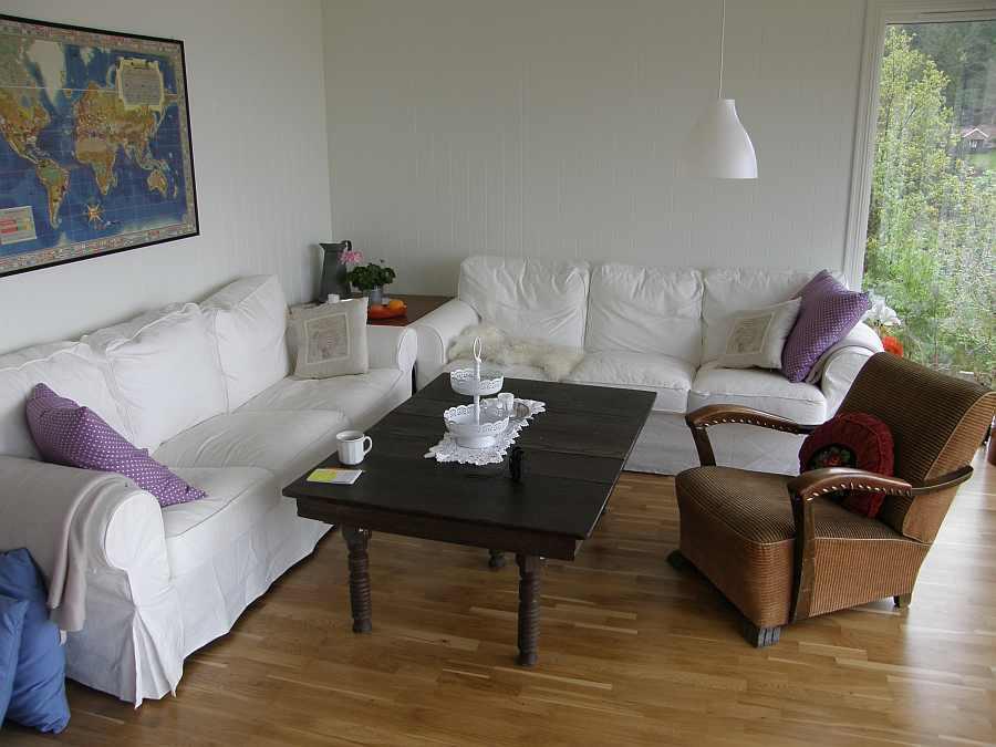 Der Sitzbereich im Wohnzimmer