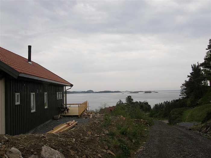 Das Ferienhaus Urvikodden wurde 2011 neu erbaut (hier noch in der Bauphase)
