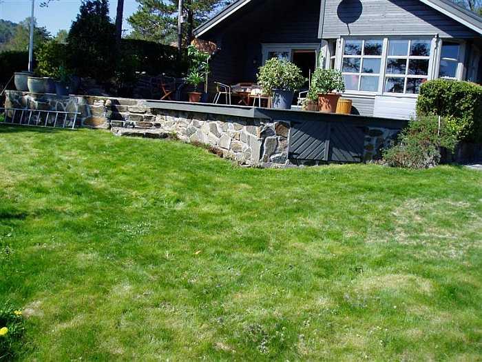 Der Garten des 600 qm großen Grundstückes