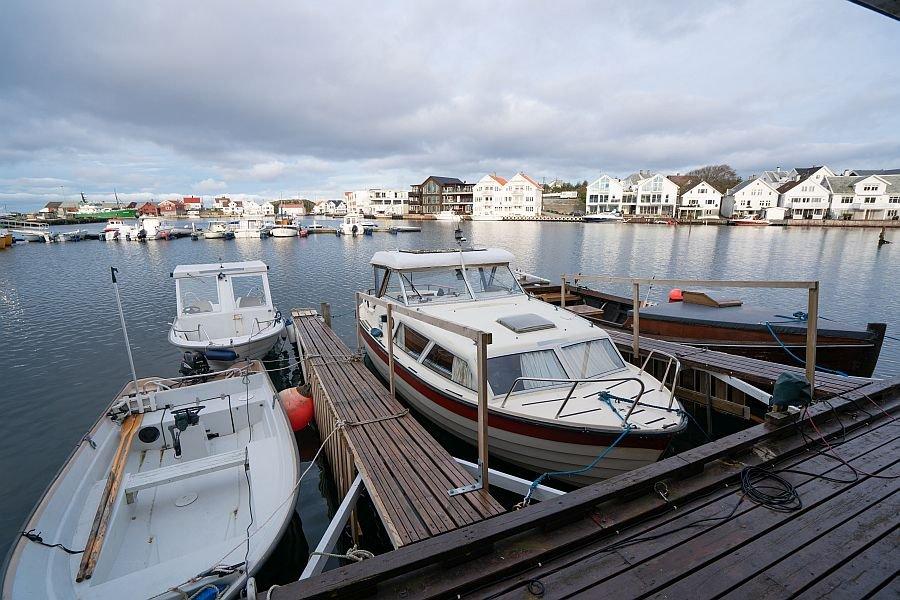 Die Bootsflotte von Åkrehamn