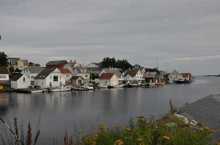 Die Meerverbindung Leiasundet - hier liegt das Seehaus Ellen