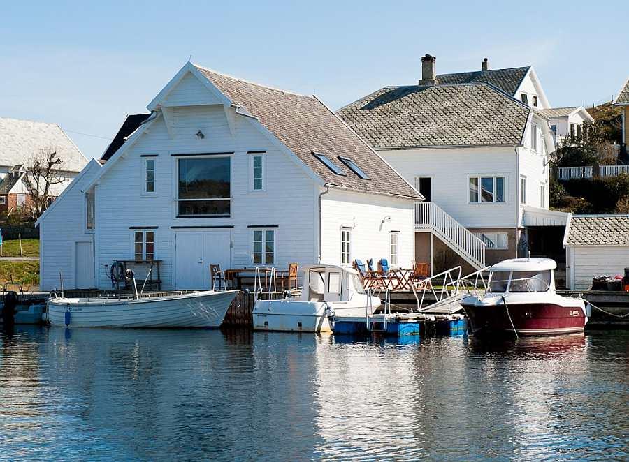 Das Ferienhaus Leiasund - traumhafte Lage direkt am Wasser