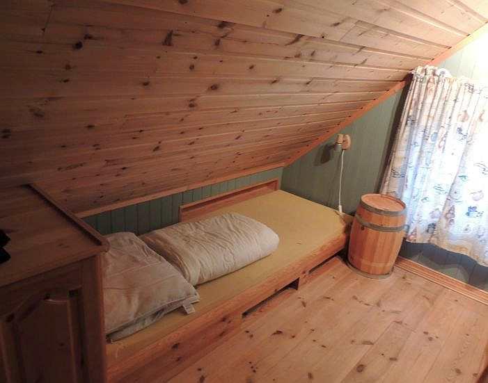 Das  dritte Schlafzimmer mit Einzelbett