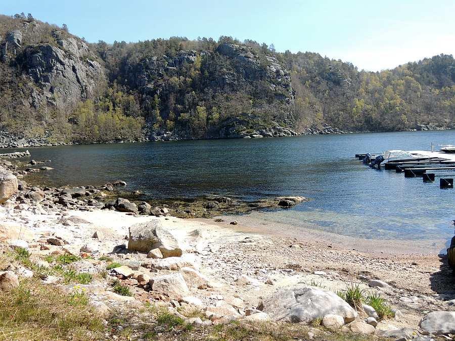 Das Ende des Kåfjords nahe des Hauses