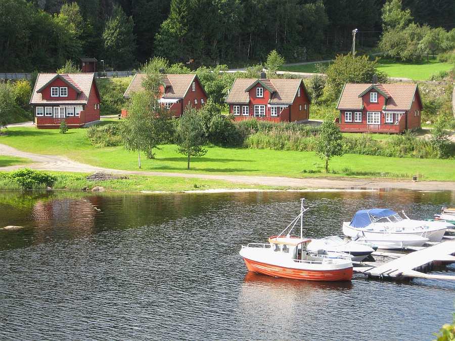Die Røsstad Hytter am Trysfjord