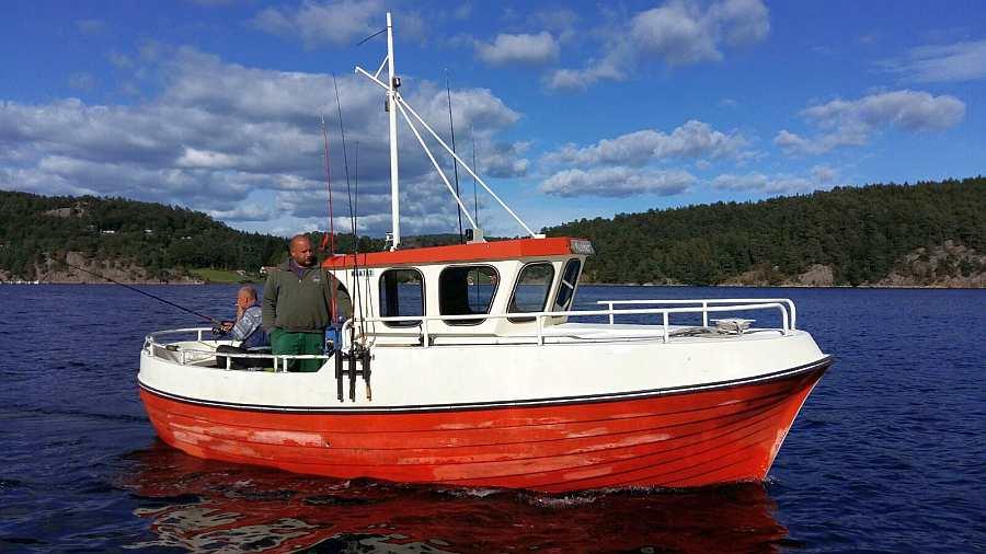Das Dieselboot -Balder- 23 Fuß/35 PS mit Echolot, GPS/Kartenplotter und Kajüte