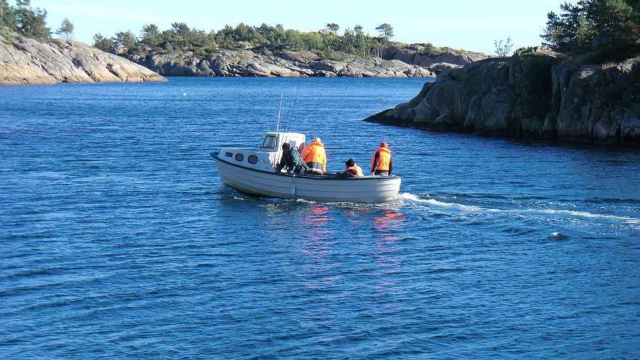 Ausfahrt mit dem Dieselboot -KB- 23 Fuß/25 PS mit Echolot und Kajüte