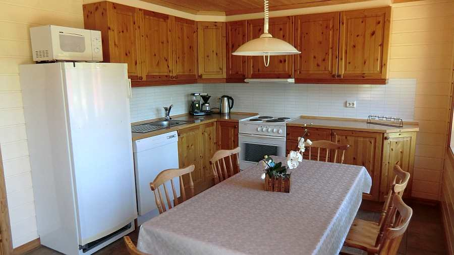 Blick in die offene Küche von Ferienhaus 3