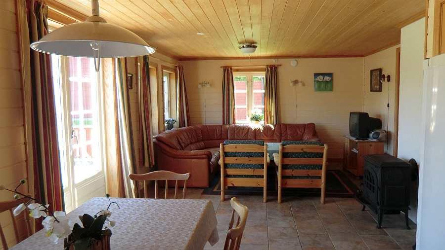 Der Wohnbereich von Ferienhaus 3
