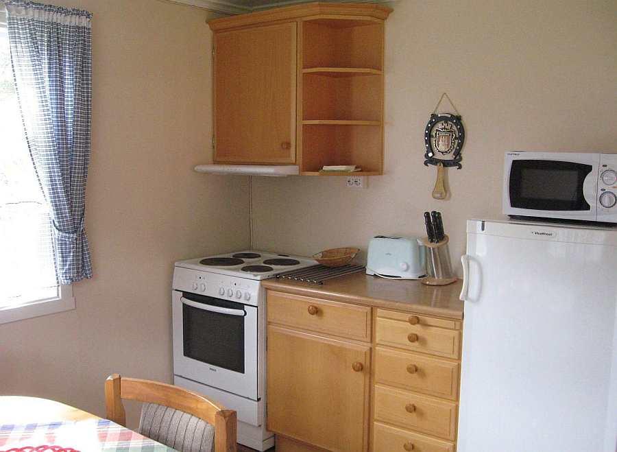 Die Küche im Ferienhaus 1 ist komplett ausgestattet..