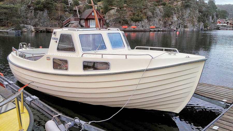 Das Dieselboot -Tromøy- 23 Fuß/30 PS mit Echolot und Kajüte