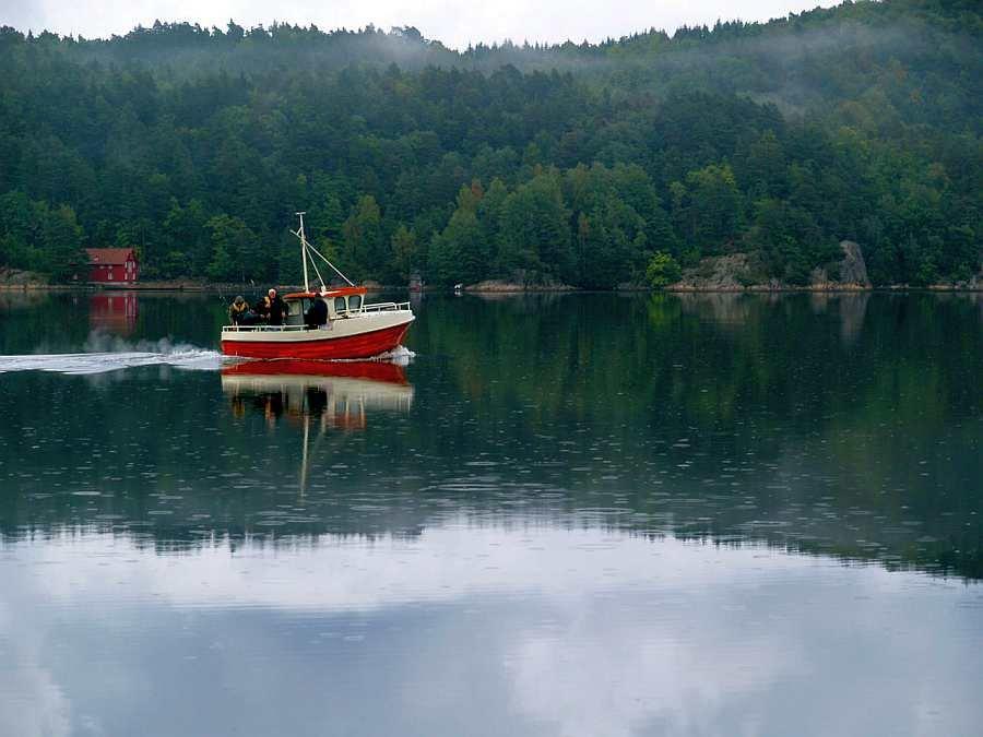 Fahrt durch den Trysfjord