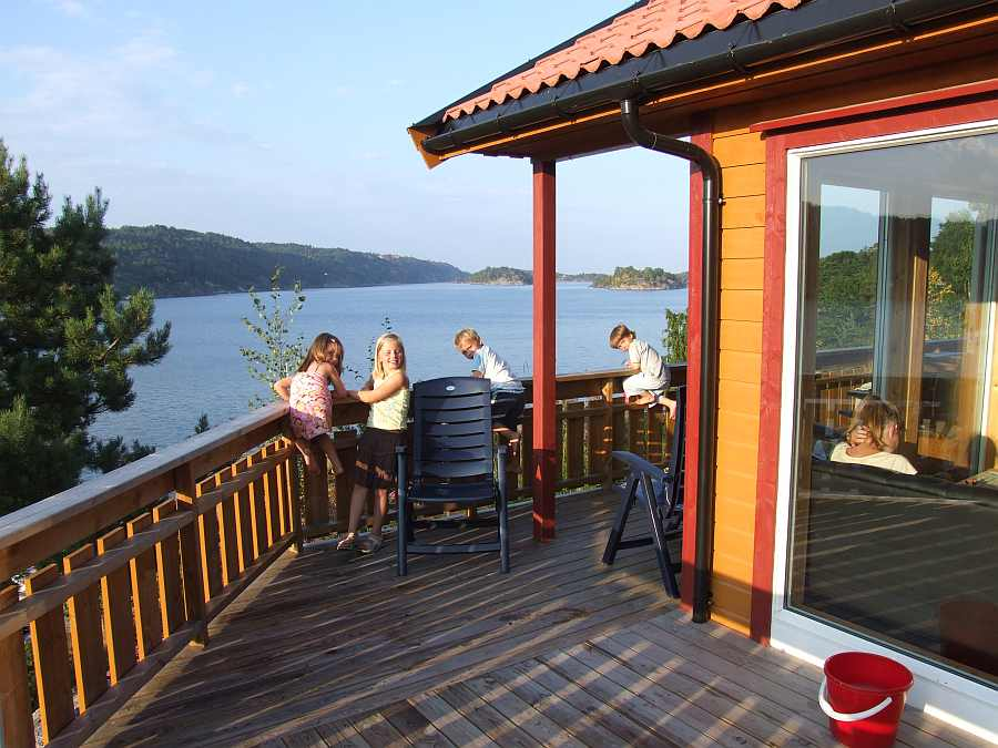 Ferienhaus Fjordstua mit herrlichem Blick auf den Fjord
