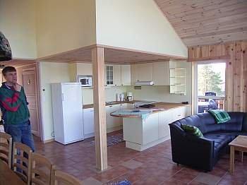 Offene Studioküche im Haus Fjordstua