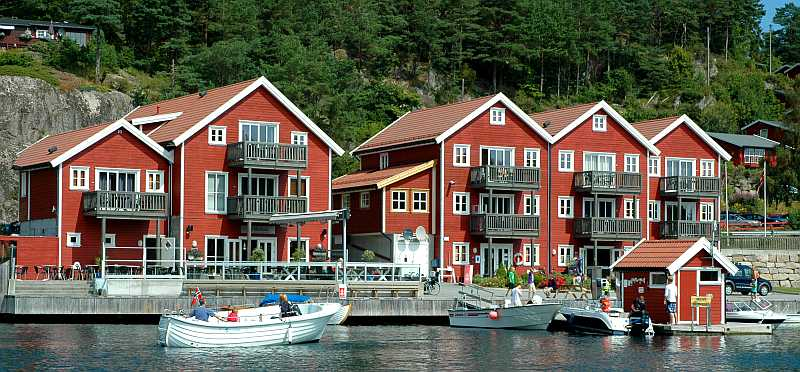 Die Ferienwohnungen Typ 3, 6 und 7 sind direkt am Bootssteg gelegen.