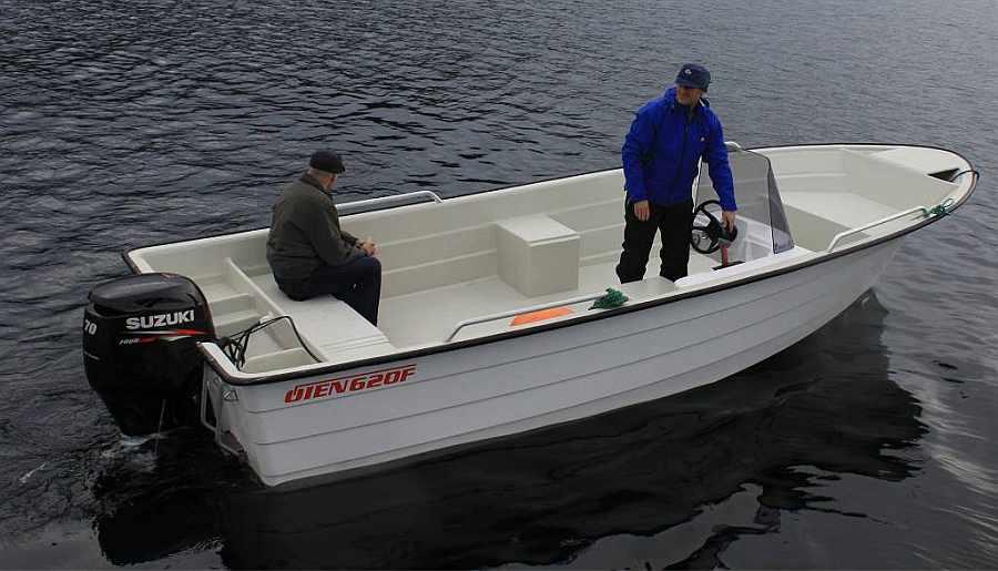 Boot Øien 20,5 Fuß / 40 PS, 4-Takter mit E-Starter, Steuerstand und Echolot, GPS/Kartenplotter