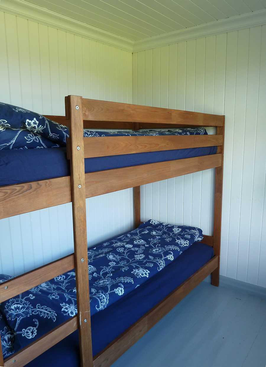 Eines der Schlafzimmer mit einem Etagenbett