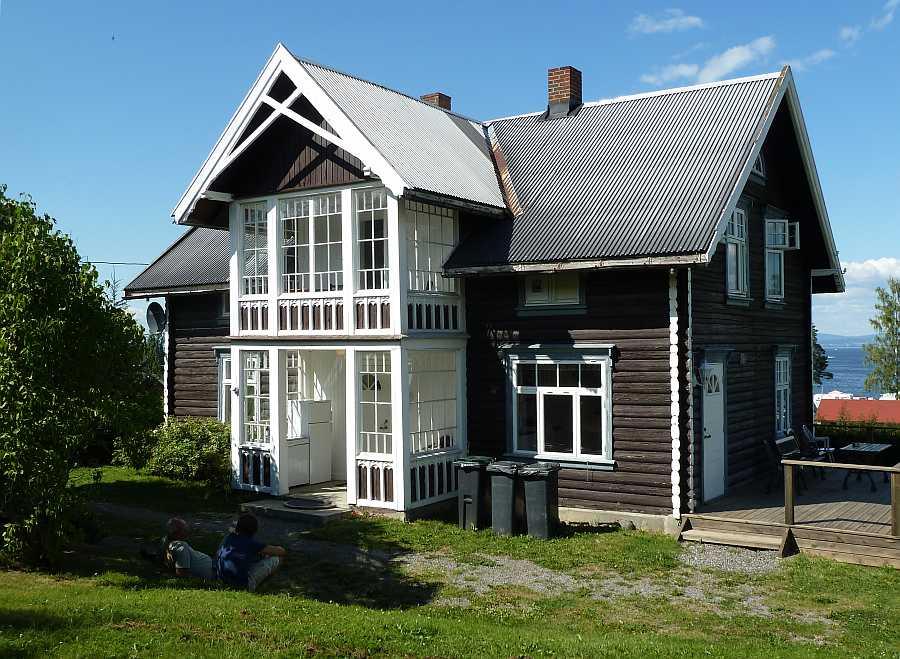 Ferienhaus Kapteins Hus am Ufer des Sees Mjøsa