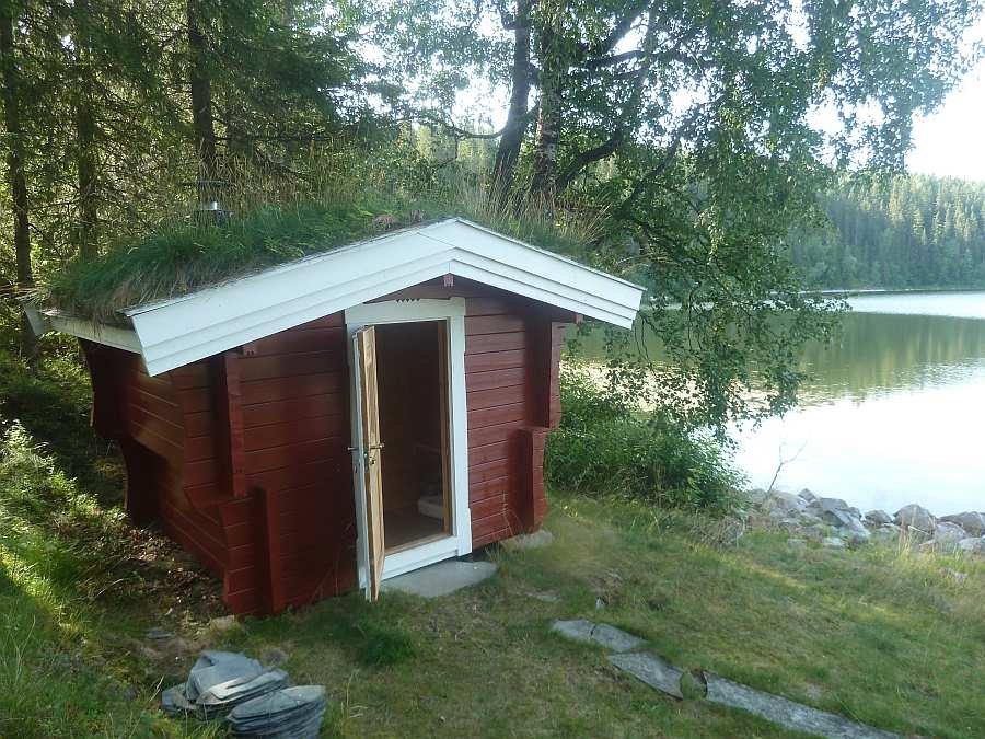 Die Sauna im Nebegebäude direkt am Seeufer