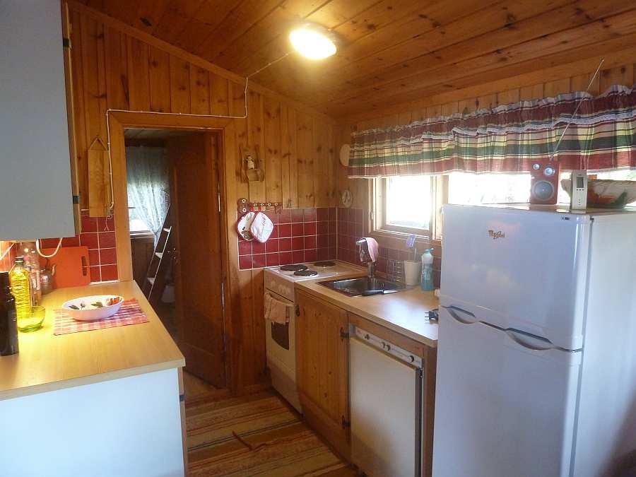 Die offene Studioküche des Ferienhauses