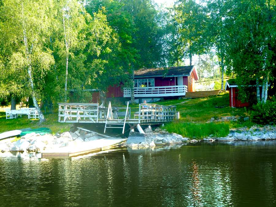 Haus Selmerhytta liegt auf einem großen Naturgrundstück