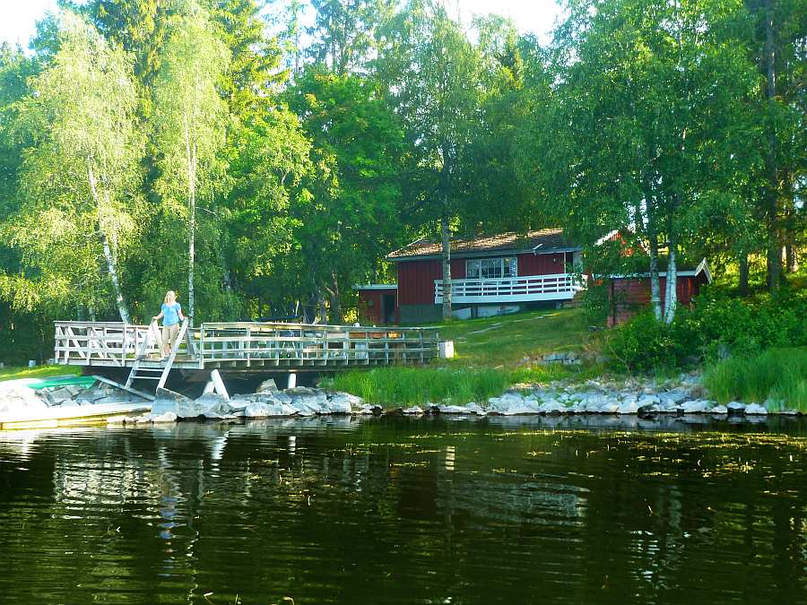 Ferienhaus Selmerhytta direkt am Ufer des Sees Kauserudtjernet