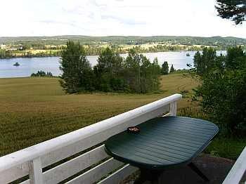 lBlick vom Balkon auf den Fluß
