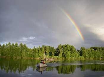 Schöne Stimmung auf dem Fluss...