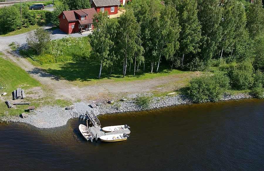 Die Lage vom Haus Guttersrud am Fluß Glomma