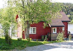 Haus Guttersrud liegt nur ca. 20 m vom Ufer der Glomma entfernt