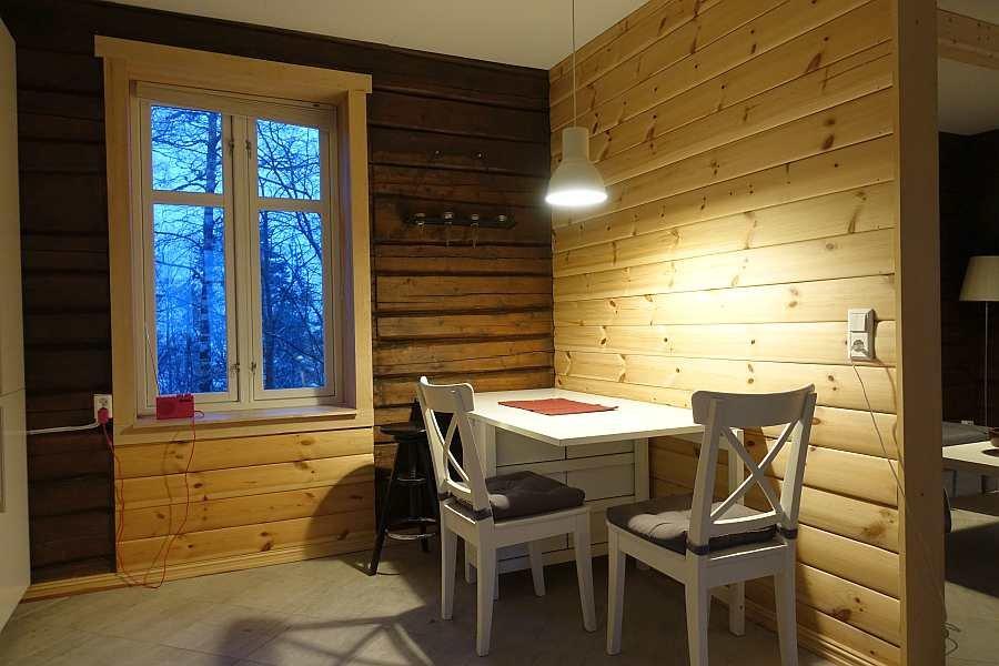 Der zusätzliche Esstisch in der Wohnküche