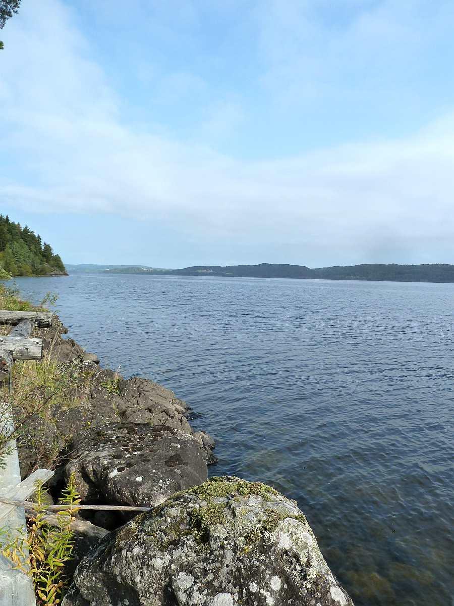 Blick auf den See beim Haus Richtung Norden