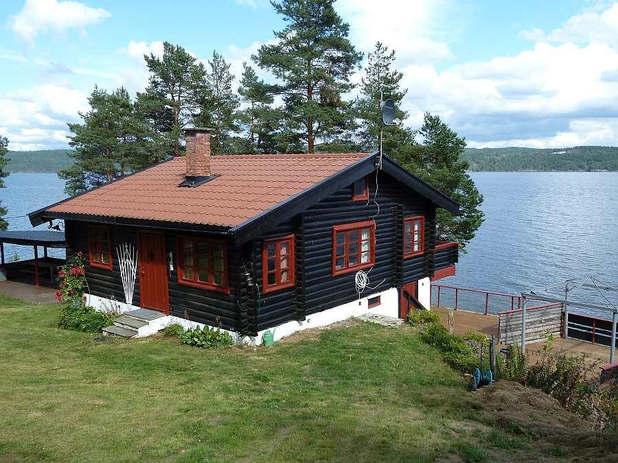 Ferienhaus Lysholmen am See  Øyeren