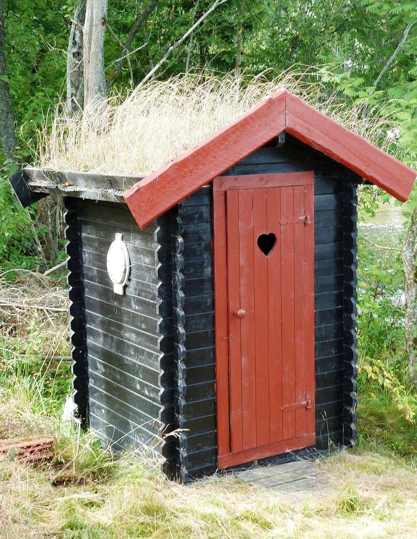 Das klassiche norwegische `Utedo`. Eine Biotoilette beim Haupthaus und den Schlafhäusern