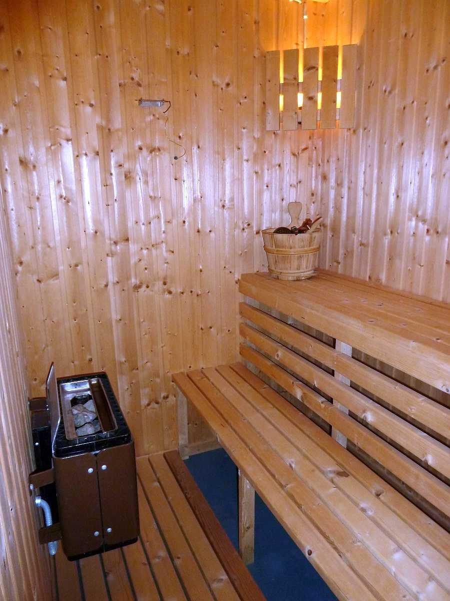 Die elektrische Sauna des Ferienhauses - optional vor Ort buchbar